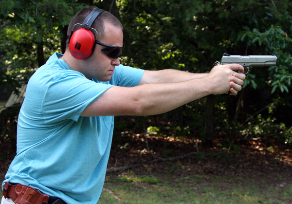 Josh Shooting the Ruger SR1911
